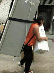 carry fridge on back china