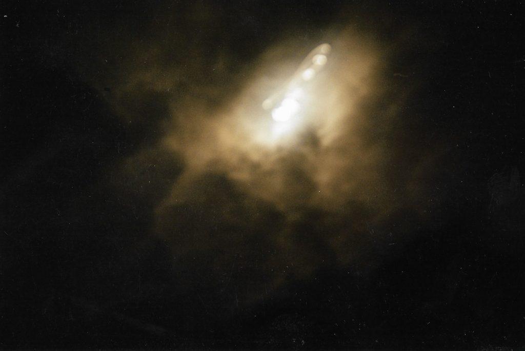 moon cloudy dark sky