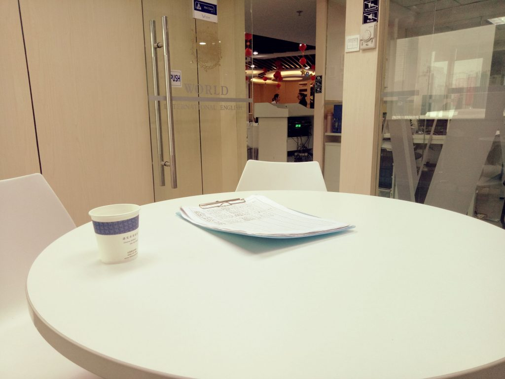 office interview table white