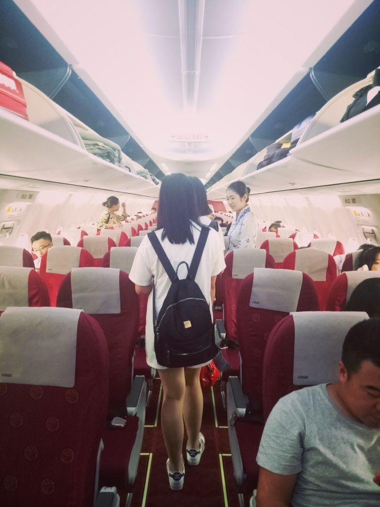 airplane aeroplane check-in China Australia