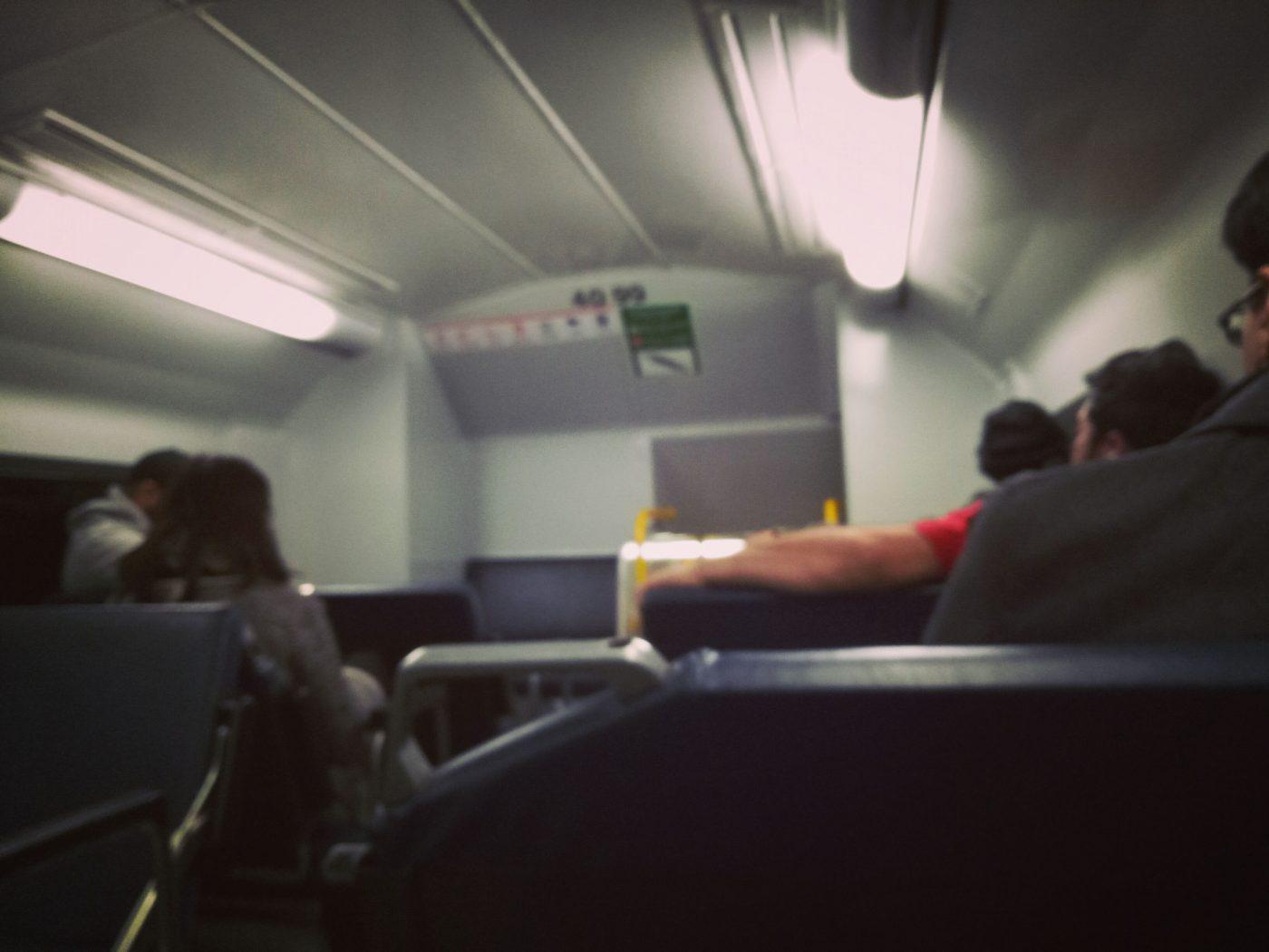 Sydney Train Carriage Passengers
