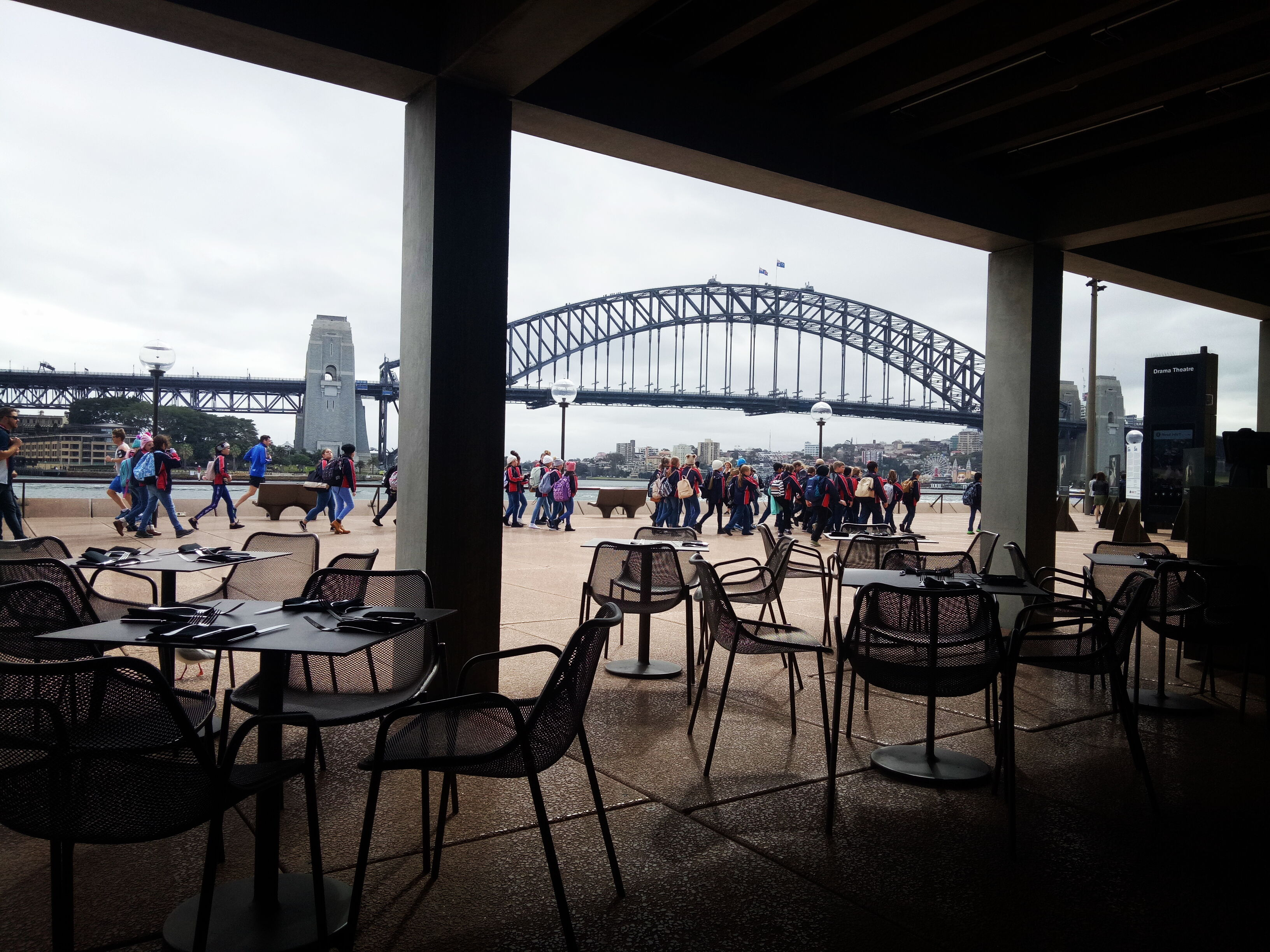 Sydney Harbor Bridge Empty Chairs