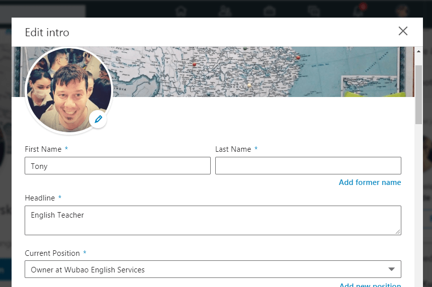LinkedIn Profile For English Teaching