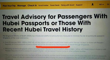 Mad Chaos: January 30, 2020 – Airline Enforce Wuhan Travel Bans