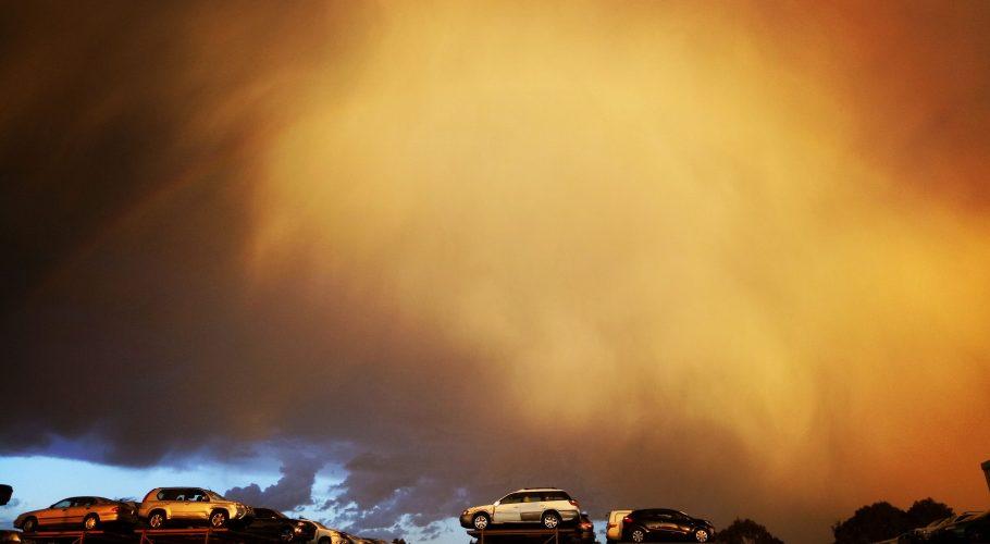 yellow sunset in Australia