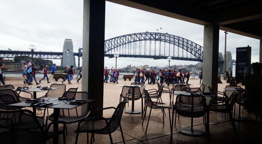 Sydney Harbor Bridge Empty Chairs